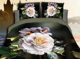 Ericdress Amazing Fragrance White Peony Print Bedding Sets