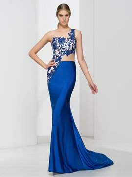 Ericdress Scoop Neck Appliques Beading Mermaid Evening Dress