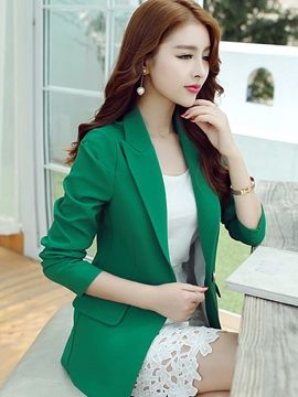 Ericdress OL Solid Color Blazer
