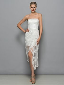 Ericdress Strapless Lace Column Cocktail Dress