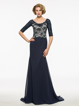 Ericdress Elegant Scoop Half Sleeves Long Mother Of The Bride Dress