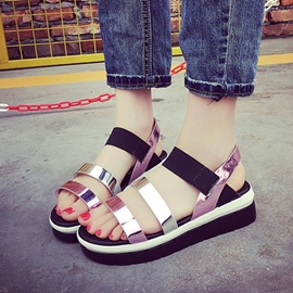 Ericdress Roman Patchwork Flat Sandals