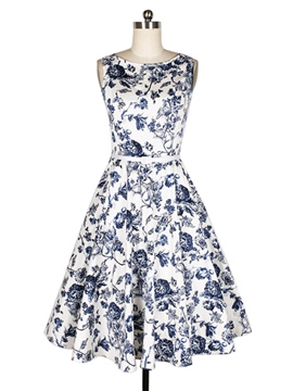 Ericdress Prom Print Expansion Casual Dress