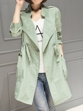 Ericdress Thin Casual Trench Coat
