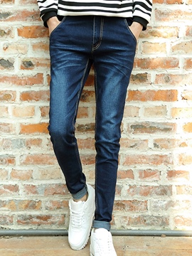 Ericdress Denim Slim Casual Men's Pants