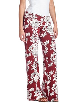 Ericdress Print Wide Leg Pants