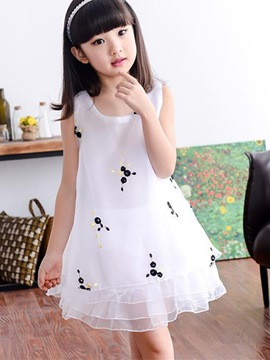 Ericdress Sleeveless Layered Girls Dress