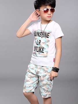 Ericdress Camouflage Boys Sports Outfit