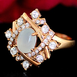 Ericdress Vintage Opal Diamante Ring For Women