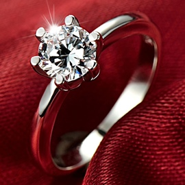 Ericdress Korean Sterling Silver Engagement Ring