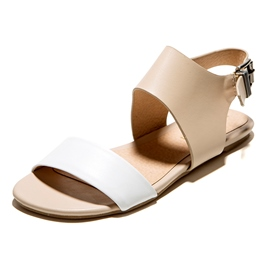Ericdress Open Toe Plain Buckle Flat Sandals