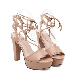 Ericdress Roman Cross Strap Chunky Sandals