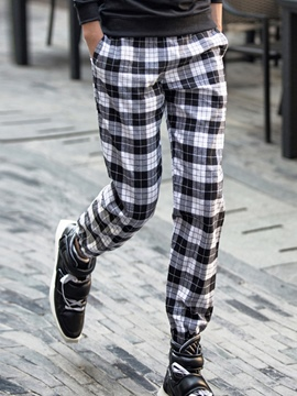 Ericdress Plaid Vogue Casual Men's Pants