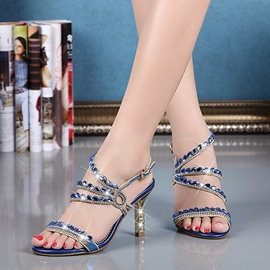 Ericdress Shining Rhinestone Stiletto Sandals