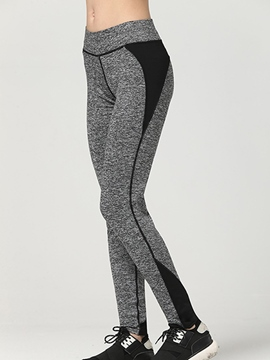Ericdress Simple Color Block Sports Legging Pants