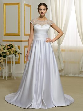 Ericdress Beautiful Scoop A Line Backless Wedding Dress