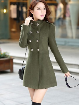 Ericdress Double-Breasted Slim Coat