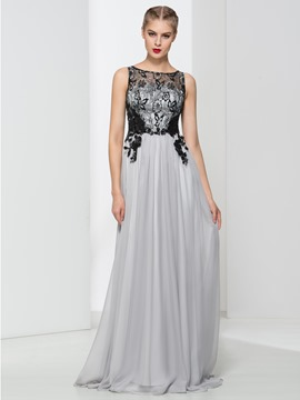 Ericdress A-Line Appliques Sequins Button Evening Dress