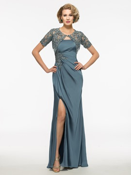 Ericdress Beautiful Strapless Sheath Long Mother Of The Bride Dress With Jacket