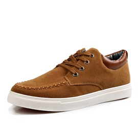Ericdress Suede Round Toe Lace-Up Men's Casual Shoes