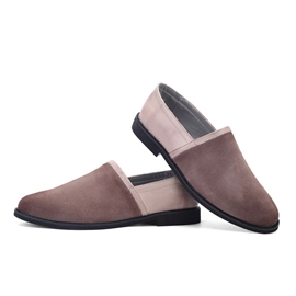 Ericdress Square Heel Patchwork Low-Cut Upper Men's Loafers