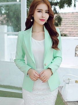 Ericdress Elegant Simple One Button Blazer