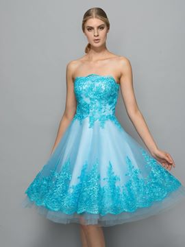 Ericdress Strapless Appliques Short Cocktail Dress