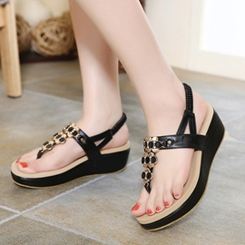 Ericdress Bohemian Clip Toe Wedge Sandals
