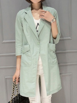 Ericdress Simple Thin Trench Coat