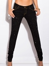 Ericdress Slim Bead Jeans