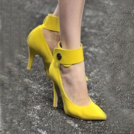 Ericdress Yellow Point Toe Prom Shoes