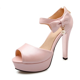Ericdress Pretty Bowtie Peep Toe Stiletto Sandals