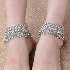 Ericdress Punk Bell Decorated Anklets(Price For a Pair)