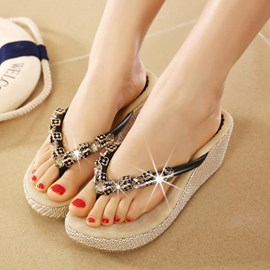 Ericdress Rhinestone Clip Toe Mules Shoes