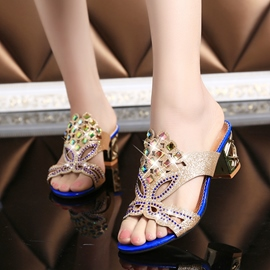 Ericdress Colorful Rhinestone Mules Shoes