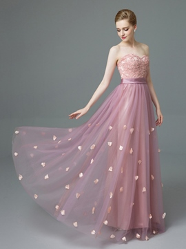 Ericdress Sweetheart A-Line Appliques Beaded Sashes Prom Dress