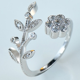 Ericdress Exquisite Flower Leaf Open Ring