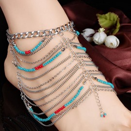 Ericdress Bohemian Geometric Beaded Anklet