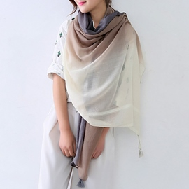 Ericdress Ethnic Gradient Cotton Scarf