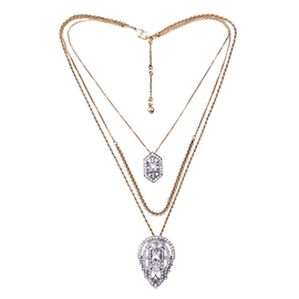 Ericdress Multi-Layer Diamante Water Drop Necklace