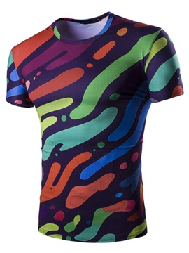 Ericdress 3D Unique Print Short Sleeve Men's T-Shirt