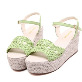 Ericdress Fresh Knitting Wedge Sandals