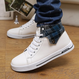 Ericdress Flat Heel Lace-Up Men's Canvas Shoes