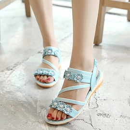 Ericdress Open Toe Elastic Band Flat Sandals