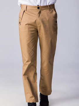 Ericdress Cotton Blends Straight Casual Men's Pants