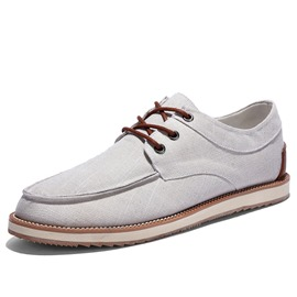 Ericdress Lace up Linen Men's Canvas Shoes