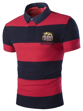 Ericdress Stripe Slim Men's Polo T-Shirt