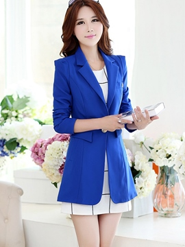 Ericdress Simple Mid-Length Blazer
