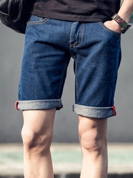 Ericdress Zip Casual Denim Men's Shorts