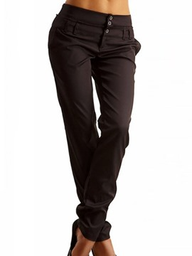 Ericdress Solid Color Casual Pants